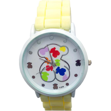 Cute Teddy Bear Silicone Band Student Children Quartz Watch