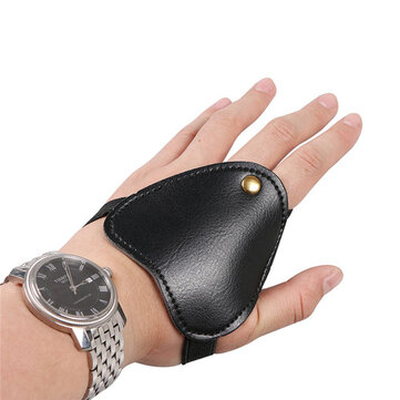Microfiber Mini Archery Hand Guard Glove Bow Arrow Hunting Shooting Protective Finger Guard