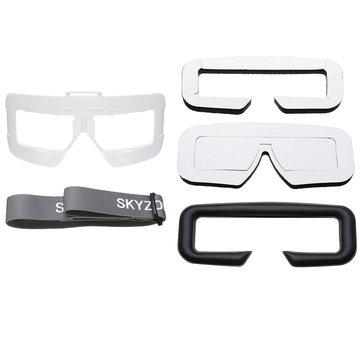 Skyzone SKY03 Goggles Faceplate PU Sponge Eye Patch Pad Head Band Set Combo Black/White/Red