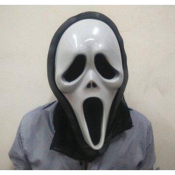 Halloween Scary Maske Parti Props Yüz Maske Hip-Hop Hayalet Dansı Kafa Tası Maske