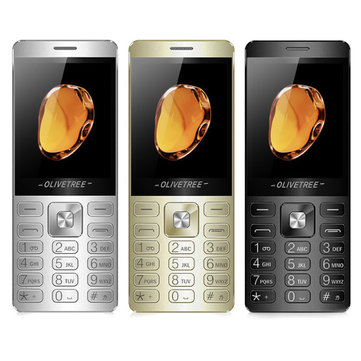 OLIVETREE X700 2.6 Inch 1200mAh SOS Flashlight FM Voice King Business Metal Phone