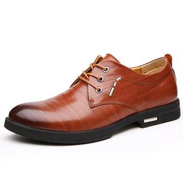 Sapatos de couro homens casual slip flat ao ar livre em negócios oxfords