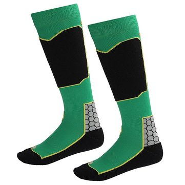 Long Thicken Warm Wool Breathable Socks for Man/Woman Snowboard Ski Socks Green