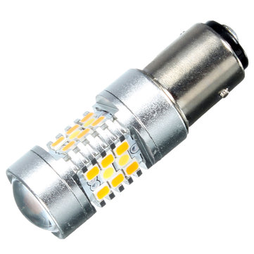 1157 28SMD Amber White LED Switchback Turn Signal Daytime Running Light Bulb
