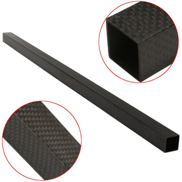 20x20x600mm 3K Black Carbon Fiber Square Tube Pipe