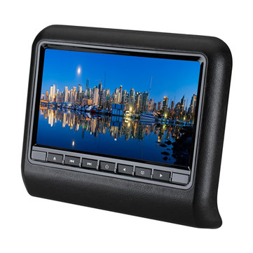 9 Inch HD LCD Car Head Rest Monitor Car Head Pillow Plug-in Type DVD Display