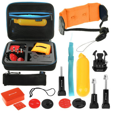 PULUZ 14 in 1 Surfing Combo Kit with EVA Case Stocker for Gopro SJCAM Xiaomi Yi Accessories