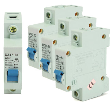 AC 400V 1P Plastic Air Switch Circuit Breaker Miniature Circuit Breakers