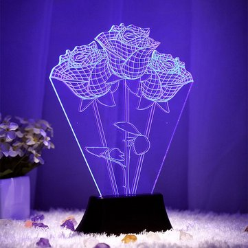 Creative 3D Stereoscopic Visual Personalized Decoration LED Lamp Living Room Romantic Gift
