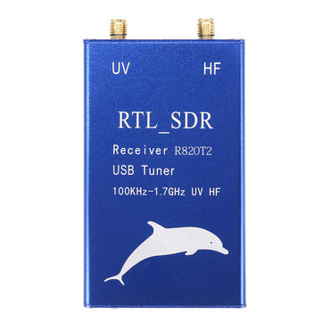 Excellway® RTL2832U+R820T2 100KHz-1.7GHz UHF VHF HF RTL.SDR All Wave USB Tuner Receiver AM FM Radio