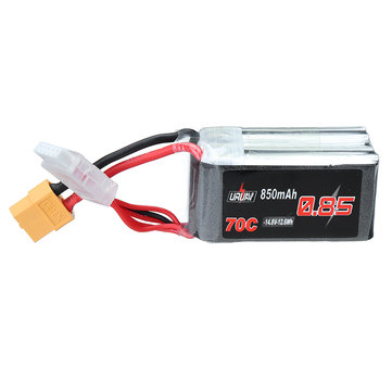 URUAV 14.8V 850mAh 70C 4S Lipo Battery XT60 Plug for RC Drone FPV Racing
