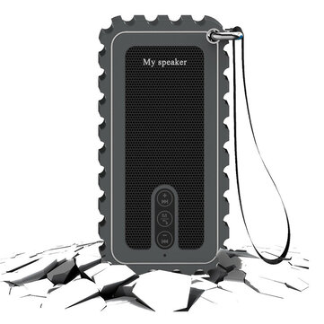 10W IP67 Waterproof Wireless Bluetooth Speaker FM Radio TF Card Handsfree Portable Outdoor Subwoofer