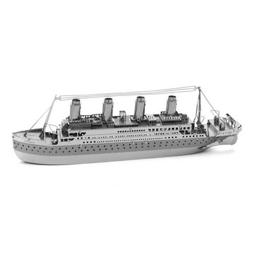 DIY 3D Puzzle Stainless Steel Assembled Model Titanic Silver Color