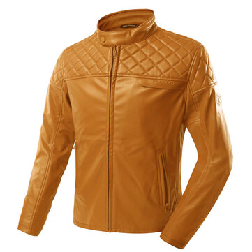 Scoyco JK52 Motorcycle Leather Jacket Windproof Motorbike Black/Brown Motocross Racing Coat