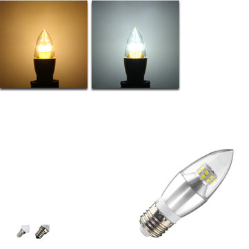 E12/E14/E27 14W 25 SMD 2835 Silvery LED Candle Light Bulb Non-Dimmable Lamp AC 85-265V