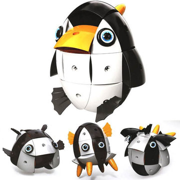 Parcae NS002 90PCS Magnetic Magic Wisdom Ball Black White Penguin Blocks Various Deformation Toys