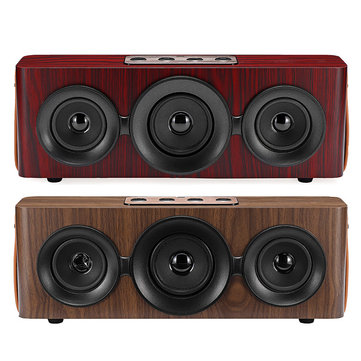 Wooden Wireless Bluetooth Speaker Stereo Subwoofer Sound FM Radio TF Card Handsfree With Mic