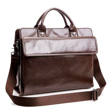 Vintage Laptop Bag Shoulder Bag Messenger Bag For Macbook iPad Laptop Notebook Under 14 Inch