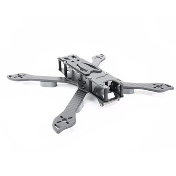 PUDA D240 240mm 4mm Arm 3K Carbon Fiber Durable True X Type Frame Kit for RC Drone