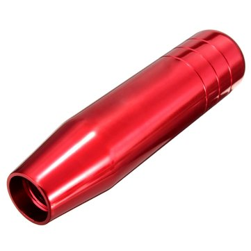 Car Manual Gear Shifter Knob Lever Stick Handle Speed Aluminum Red 13cm