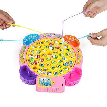 GroteVisserijElektrischeVisserijVijverSet Toys Met Muziek Functie Voor Kinderen Kinderen Cadeau
