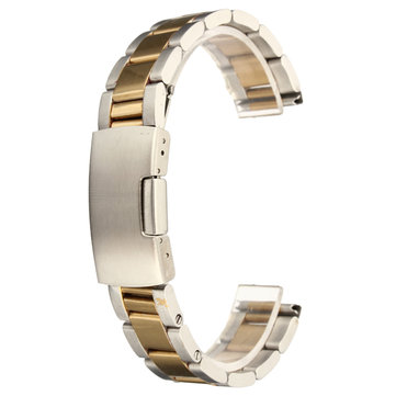 18mm 20mm 22mm 24mm Gold&Silver Stainless Steel Watch Band