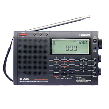 TECSUN PL-660 PLL SSB VHF AIR Band Radio Receiver FM/MW/SW/LW Radio Multiband Dual Conversion