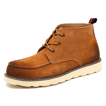 Men Comfortable Suede Leather Ankle Boots