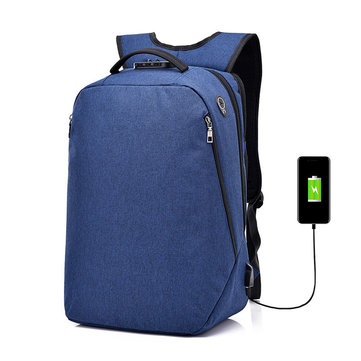 25L Against Theft Backpack Multifunctional USB Charging Travel Waterproof 15 Inch Laptop Bag