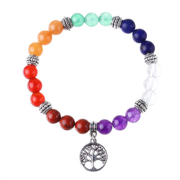 Yoga Balance 7 Chakra Colorful Beads Bracelet Ball Crystal