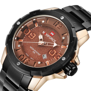 NAVIFORCE NF9078 Fashion Men Quartz Watch Luxury Stainless Steel Sport Watch