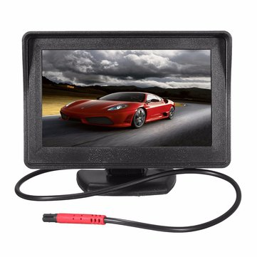 4.3inch Car TFT LCD Monitor Mirror And 170º HD Reverse Rear View Backup Camera Kit