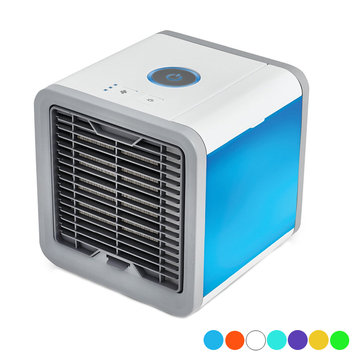 3 in 1 Mini USB Air Conditioner Fan Camping Portable LED Cooling Humidifier Moisturizing Device