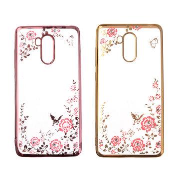 Flowers Pattern Plating Case For Xiaomi Redmi 4 3GB RAM 32GB ROM Version