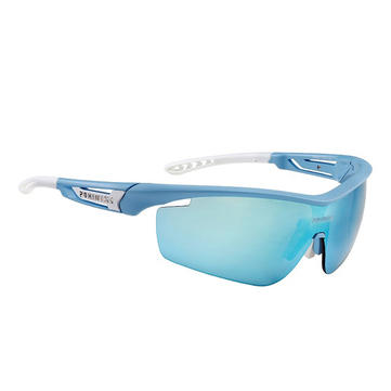 POHINIX Speed PX011-05 TR90 Polarized Goggles Blue Frame Blue Lenses Outdoor Sport Bicycle Glasses