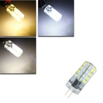 G4 LED 2W 32 SMD 2835 200Lm LED Crystal Light Silicone Light Lamp Bulb AC/DC 12V