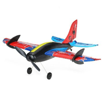 Techboy Mini Bull 2.4G 3CH 345mm Wingspan EPP 360 Degree Rotation RC Airplane Glider RTF