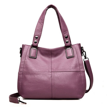 Women Faux Leather Classic Handbag Crossbody Bag