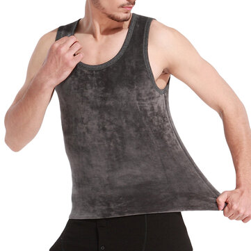 Double Fleece Thick Warm Tank Tops Sleeveless Thermal Vest