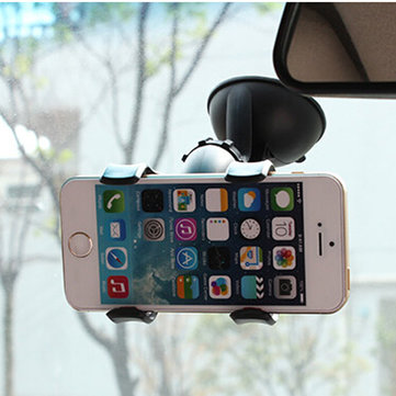Universal Rotating 360° Car Wind Shield Suction Mount Holder Stand For iPhone 6