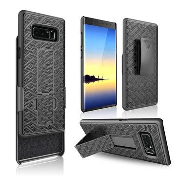 Bakeey 3 in 1 Dokuma Zırh Kemer Samsung Galaxy Note 8 için Klip kickstand Koruyucu Kılıf