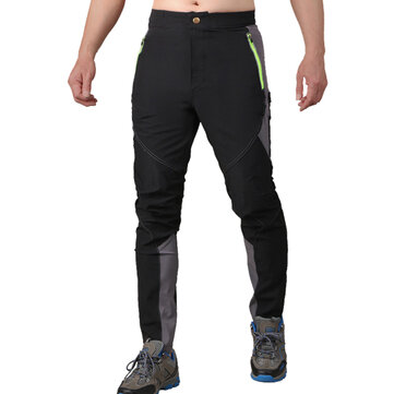 Mens Outdoor Ultra Thin Waterproof High Elastic Sport Pants Quick Dry Breathable Slim Fit Trousers
