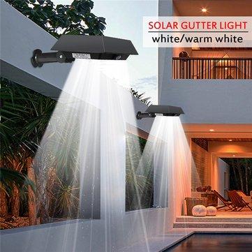 Solaire 30 LED PIR Capteur de mouvement cour extérieure gouttière jardin lumière murale lampe de sécurité étanche