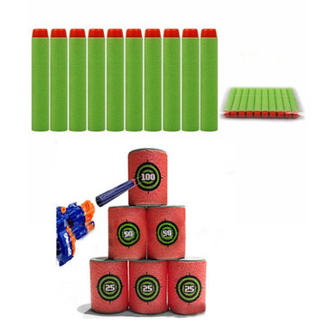 100PCS Refill Green Bullets Dart For Nerf N-strike Elite Rampage Retaliator Series Blasters
