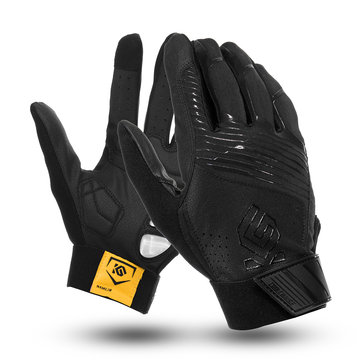 Winter Warm Full Finger Gloves Motorcycle Touch Screen Waterproof Gel Pad PU Leather