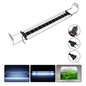 8W 26 LED Aquarium Fish Tank Light Panel Blue+White Lamp Adjustable Aluminum