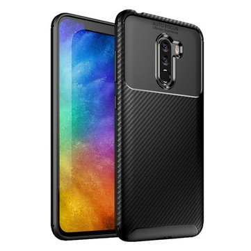 Bakeey™ Carbon Fiber Pattern Shockproof Silicone Back Cover Protective Case for Xiaomi Pocophone F1