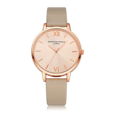 Casual style cuir PU sangle Cloc kLadies montre-bracelet à quartz