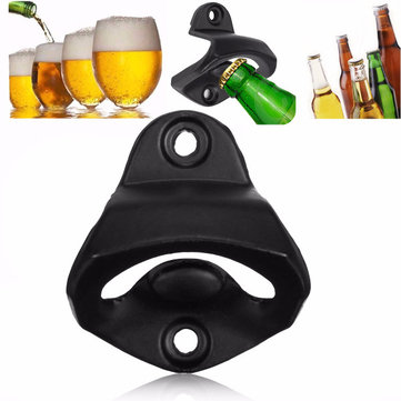 Wall Mount Wine Beer Soda Glass Bottle Cap Opener for Bars Club Gifts