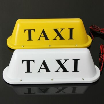 Waterproof Taxi Magnetic Base Roof Top Car Cab LED Sign Light Lamp